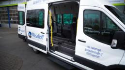 Ford Transporter Rolli Seitentür offen Innenansicht - Musshoff Touristik Lippstadt