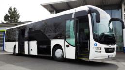MAN Lion's Regio Reisebus Gepäcktür offen Seitenansicht - Musshoff Touristik Lippstadt