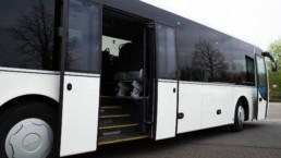 MAN Lion's Regio Reisebus Schiebetür offen Seitenansicht - Musshoff Touristik Lippstadt